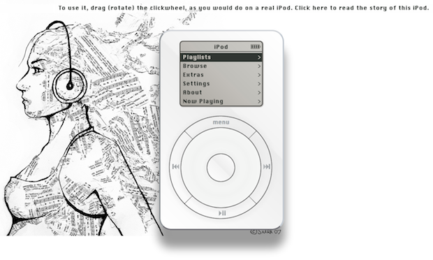 Dude recreates firstgen iPod in the browser, won't put 1,000 songs in your pocket