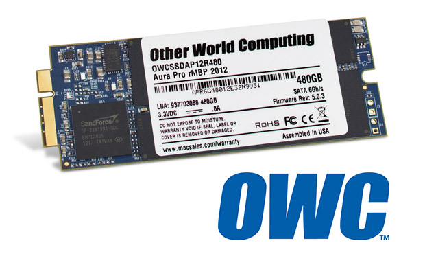 OWC certifies 480GB Mercury Aura Pro SSD for 13inch MacBook Pro with Retina display