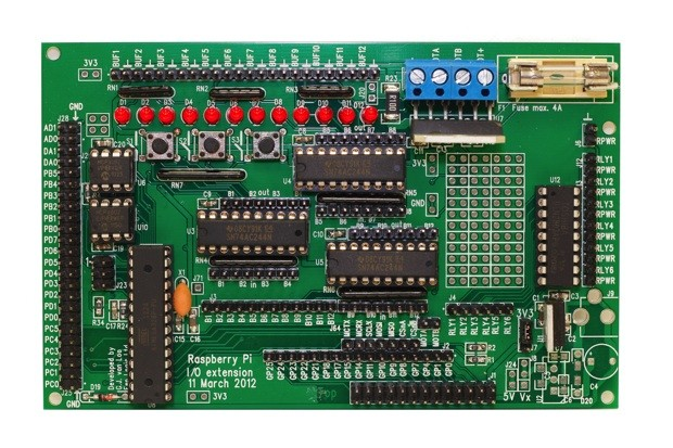 Gertboard extender for Raspberry Pi ships to advanced tinkerers video