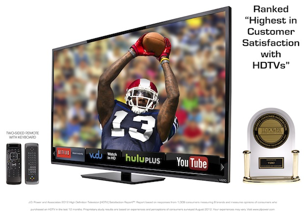 Vizio's 'extralarge' holiday HDTV lineup goes from 55 to 70inches