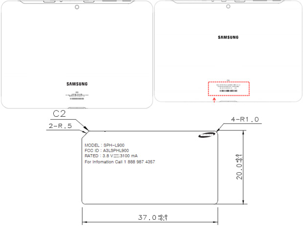 Samsung P500 and i915tablets for Sprint and Verizon, Sprint Galaxy Note II reach the FCC