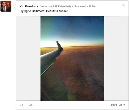 Vic Gundotra post hints Snapseed for Android may be close, bring Google tiein
