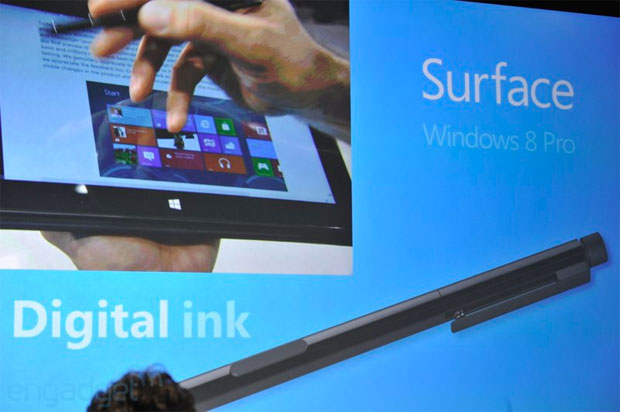 Microsoft announces Surface for Windows 8 Pro Intel inside, optional pen input