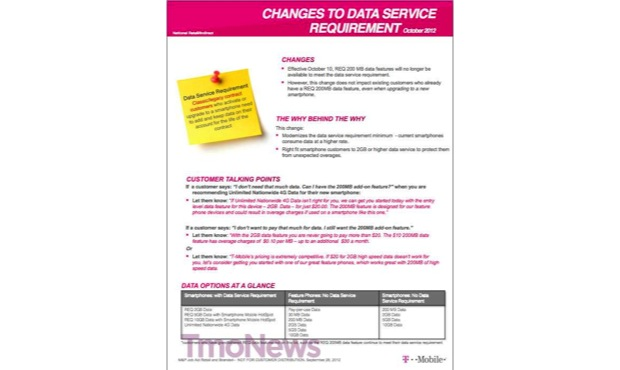 DNP TMobile drops 200MB smartphone data plan, 2GB now the new standard