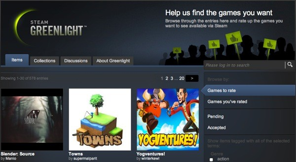 Steam Greenlight adds nongaming category for productive apps