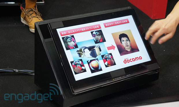 NTT DoCoMo handsfree videophone prototype replaces that offcenter webcam stare with your digital replica handson