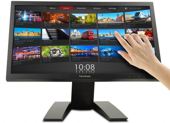 ViewSonics new TD2220 twopoint touch monitor get a price and a ship date to coincide with Windows 8