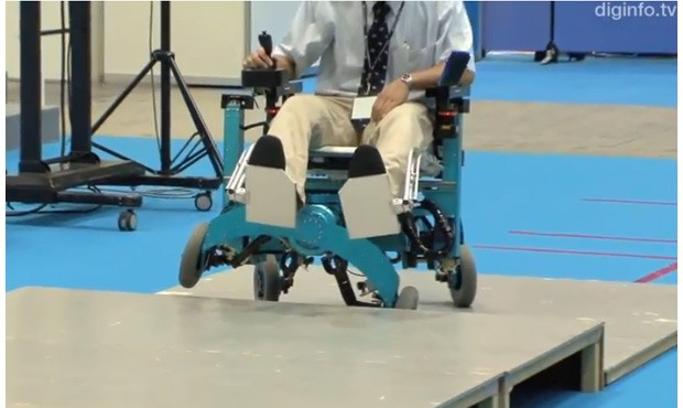 Robotic wheelchair concept adds leglike movement, tackles stairs with ease video