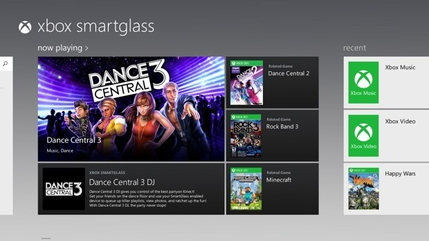 SmartGlass goes live alongside first Windows 8 tablets on October 26 with several supported apps
