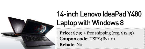 Slickdeals' best in tech for November 1st 14inch Lenovo IdeaPad Y480 and ASUS Transformer TF300
