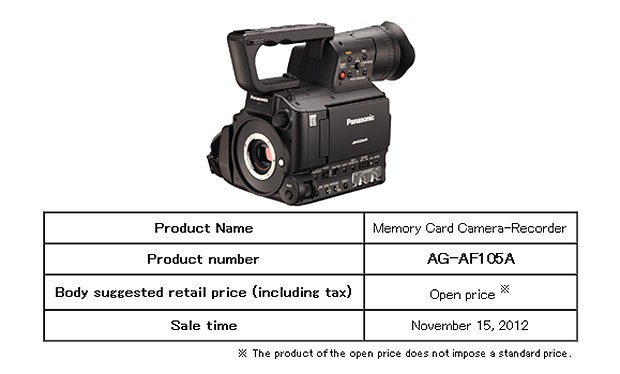 Panasonic launches AGAF105A tweaked pro camcorder with 10bit video output