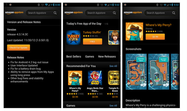 DNP Amazon Appstore update remedies Android 42 logout bug, while giving the UI a slight facelift