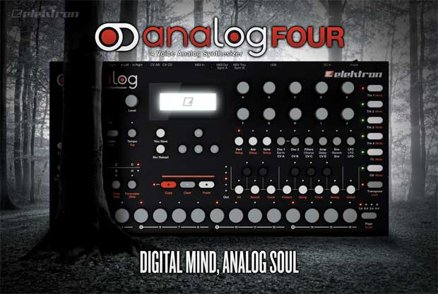 Elektron announces Analog Four synthesizer, spends the naming budget on viral teaser video
