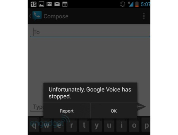 DNP Google Voice force closing text messages in Android 42