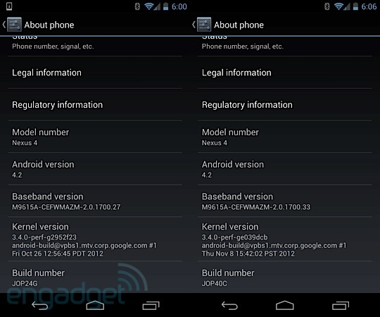 Nexus 4 and Nexus 10 receive Android 42 update, gain widgets