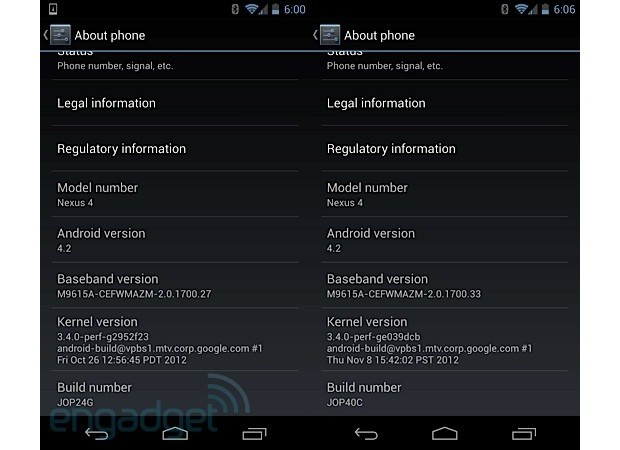 Android 42 update for Nexus 4 and Nexus 10 adds lock screen widgets and multiuser support