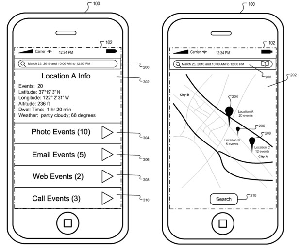 Apple patent details iOS journaling system, hints at extrapolated Events functionality