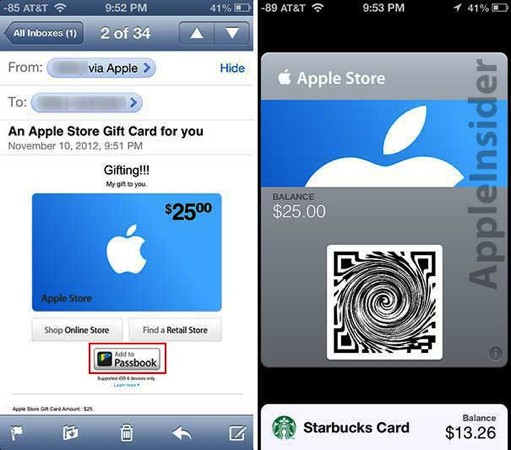 Apple starts offering Passbookcapable gift cards, may save our hides in holiday shopping