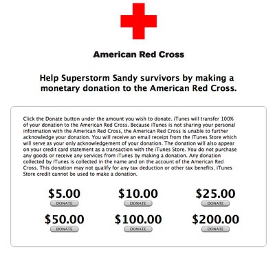 Sandy got you down Comcast offering free options to affected regions, iTunes allowing Red Cross donations