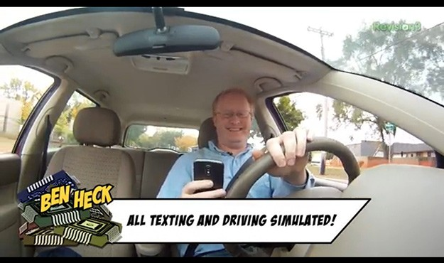 The Ben Heck Show kicks off season 3 by clamping down on texting while driving video