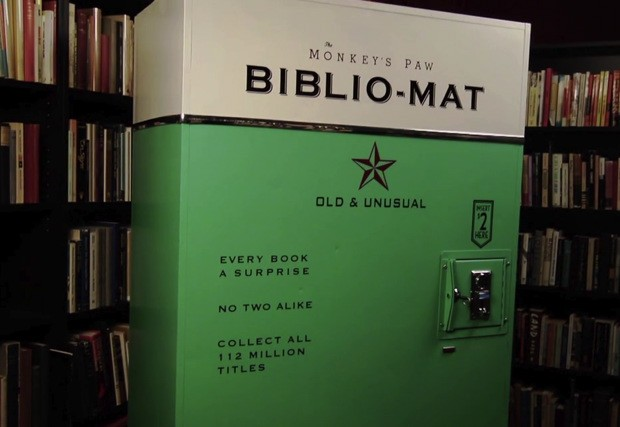 Meet the Bibliomat a homemade vending machine for old books video