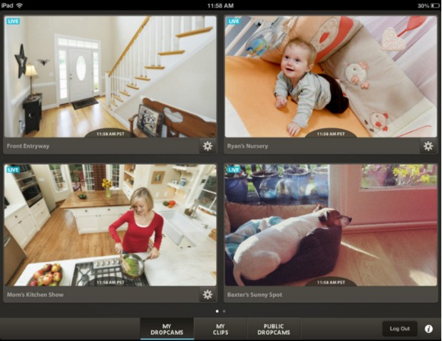 DNP Dropcam for iPad now available at the App Store