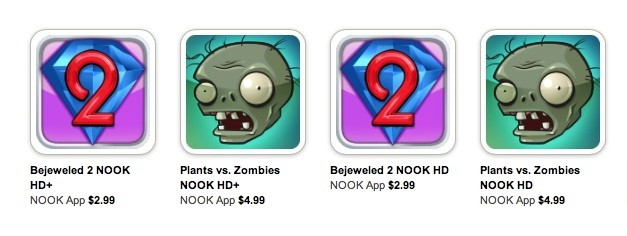 EA bringing more games to Barnes & Noble's Nook HD and Nook HD