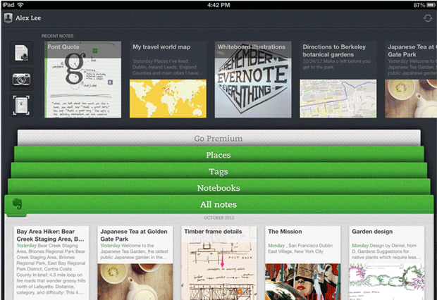 Evernote 5 for iOS coming soon, new UI, cleaner places view, same inability to forget video