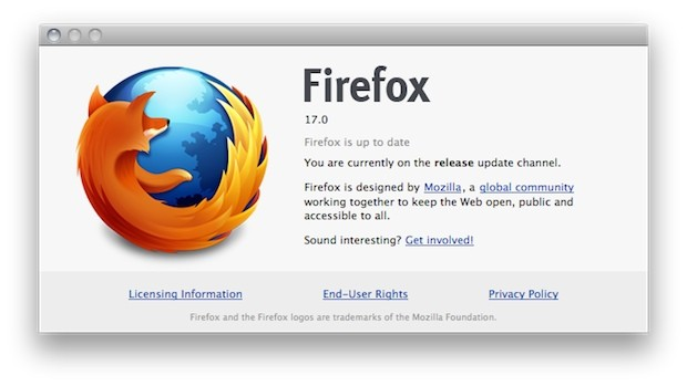 Firefox 17 heads out of beta, officially drops support for OS X 105