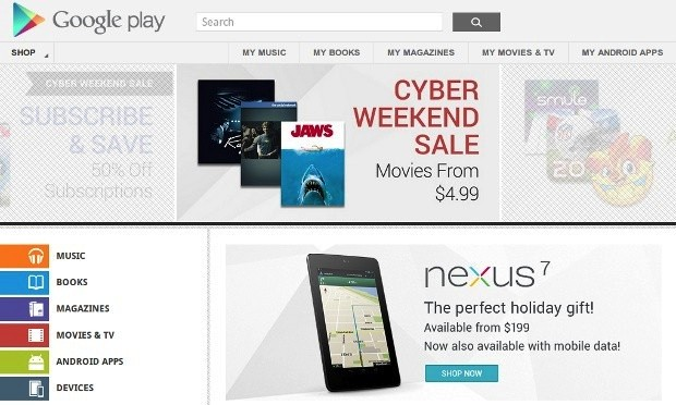 Google Play, developers slash prices on apps and media for Thanksgiving weekend