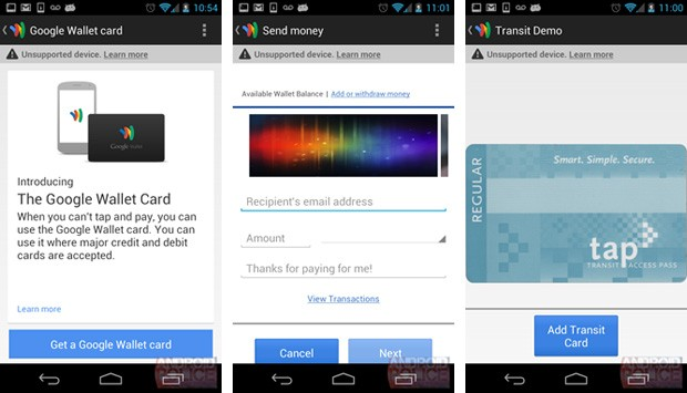 google wallet card leak Google Wallet update purportedly leaks plans for a real world card, transfers and transit passes