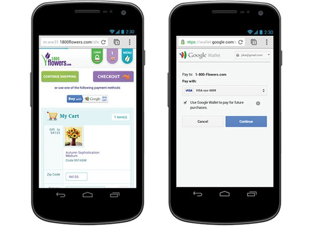 Google Wallet checkout system gains support for mobile websites