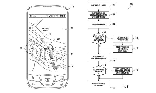 Google snags patent for directions based on cell coverage