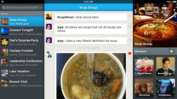GroupMe moves up to v40, embraces the iPad