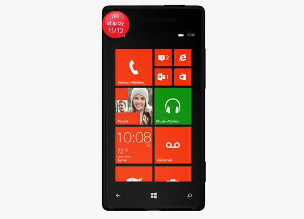 Verizon says HTC 8X will ship 'by 11/13′, red model due on the 21st