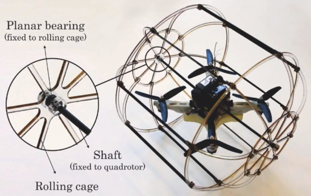 HyTAQ hybrid quadrotor robot travels by air and land, leaves us no place to hide video