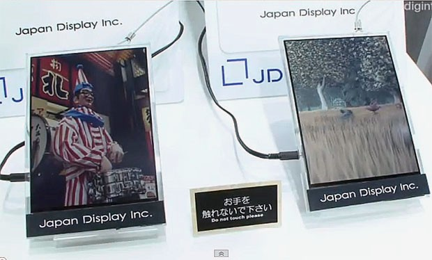 DNP Japan Display shows lowpower reflective 'paper' display fast enough for video