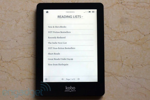 DNP Kobo Glo review another illuminated ereader lights up the market