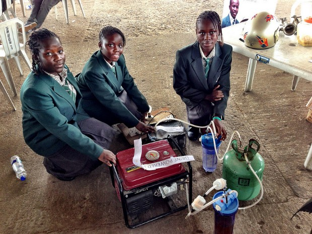 DNP Nigerian teenagers urinepowered generator produces up to six hours of electricity