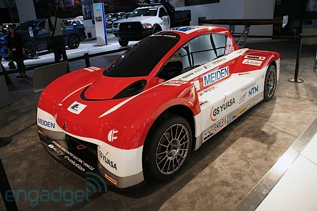 DNP Mitsubishi's iMiEV Evolution electric racer eyeson
