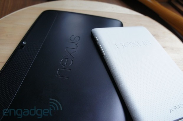 Google Nexus 10 and Nexus 7