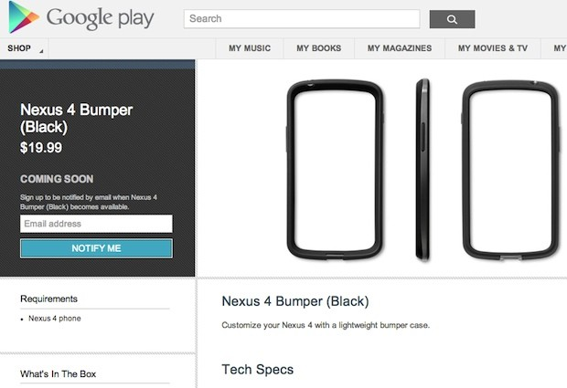 Nexus 4 and 10 hit Australian Google Play store first, $20 Nexus 4 bumpers appear