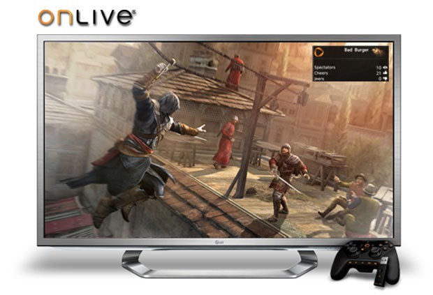 LG Google TVs with OnLive cloud game streaming