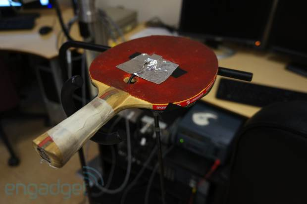 Northeastern University's haptic ballracket system is one pricey game of paddle ball