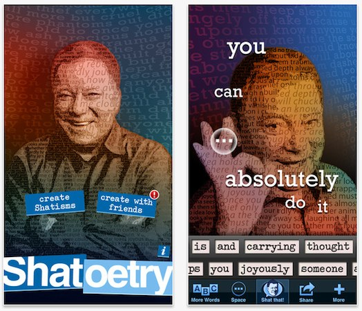 Shatoetry iPhone app lets you put words in William Shatner's mouth