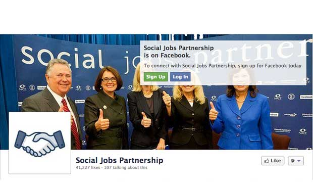 Social Jobs Partnership Facebook application goes live, TK