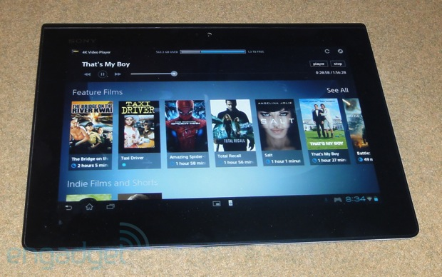 sony tablet remote 1354337410 Engadget Review: Sony $25,000 4K Ultra HD TV