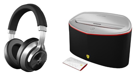 Logic3's Ferraribranded headphones and speakers make their stateside debut, no license needed to rock