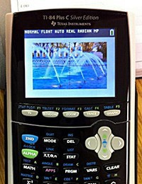 TI84 calculator with color screen surfaces, geeks giddy with anticipation
