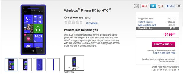 TMobile's Windows Phone 8X, Lumia 810 on sale today